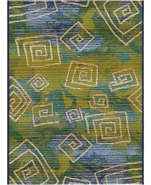 "Bridgeport Home Pashio Pas2 Navy Blue 2' 2"" x 3' Area Rug"
