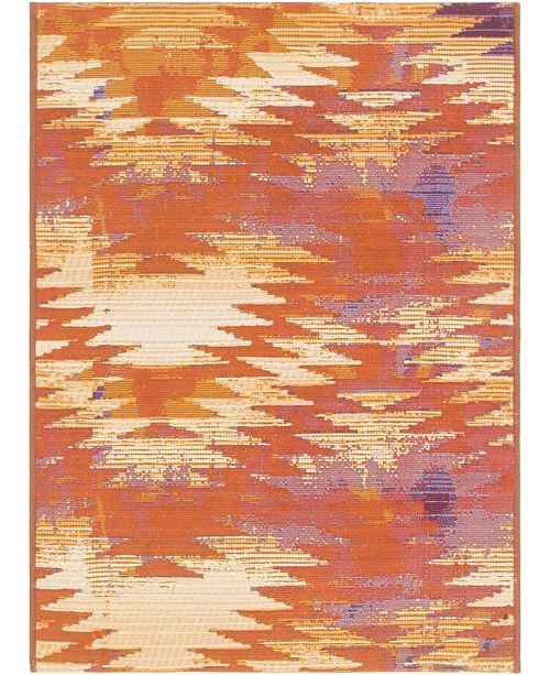 "Bridgeport Home Pashio Pas2 Red 2' 2"" x 3' Area Rug"