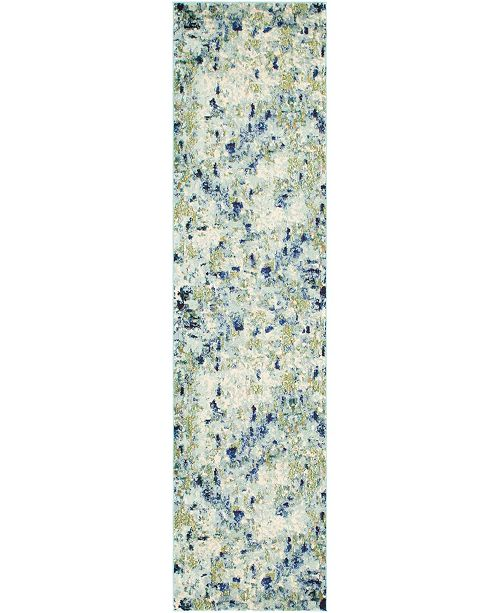 "Bridgeport Home Crisanta Crs1 Light Blue 2' 7"" x 10' Runner Area Rug"