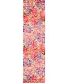 """Crisanta Crs4 Multi/Pink 2' 7"""" x 10' Runner Area Rug"""