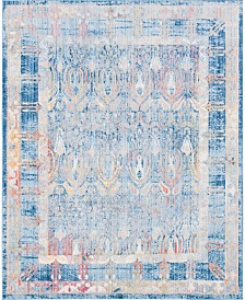 Bridgeport Home Zilla Zil2 Blue 8' x 10' Area Rug