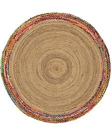 Chindi Border Chb2 Natural 8' x 8' Round Area Rug