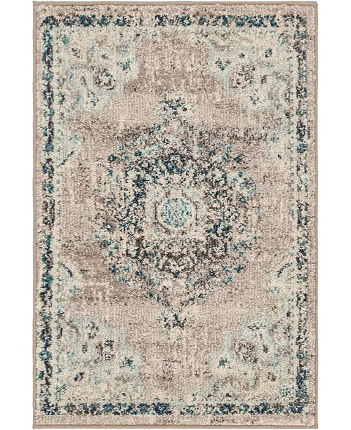 "Bridgeport Home Lorem Lor1 Gray 2' 2"" x 3' Area Rug"