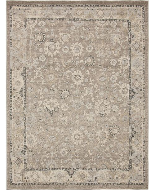 Bridgeport Home Lorem Lor3 Light Brown 9' x 12' Area Rug