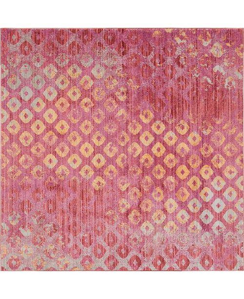 Bridgeport Home Prizem Shag Prz2 Pink 8' x 8' Square Area Rug
