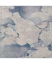 Prizem Shag Prz4 Blue Gray 8' x 8' Square Area Rug