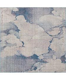 Bridgeport Home Prizem Shag Prz4 Blue Gray 8' x 8' Square Area Rug