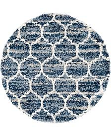 Lochcort Shag Loc1 Blue 5' x 5' Round Area Rug