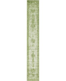 Mobley Mob1 Green 2' x 13' Runner Area Rug
