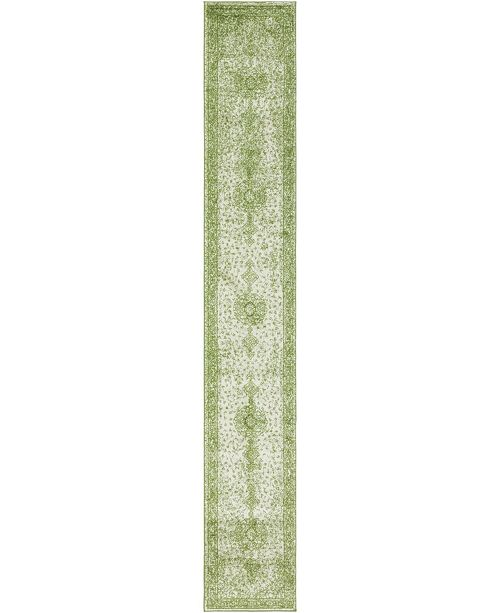 Bridgeport Home Mobley Mob1 Green 2' x 13' Runner Area Rug