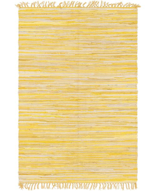 Bridgeport Home Jari Striped Jar1 Yellow 4' x 6' Area Rug