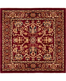"Bridgeport Home Thule Thu1 Burgundy 4' 5"" x 4' 5"" Square Area Rug"