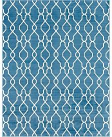 Bridgeport Home Pashio Pas8 Blue 8' x 10' Area Rug