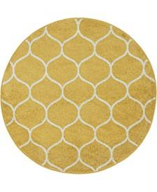 Plexity Plx2 Yellow 4' x 4' Round Area Rug