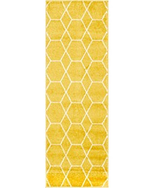 Plexity Plx1 Yellow 2' x 6' Runner Area Rug