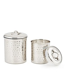 International Stainless Steel Hammered Canister Set, 2 Piece