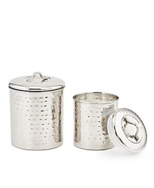 Old Dutch International Stainless Steel Hammered Canister Set, 2 Piece