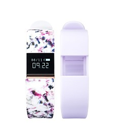 iFitness Activity Tracker with Floral Strap and Bonus Lavender Strap