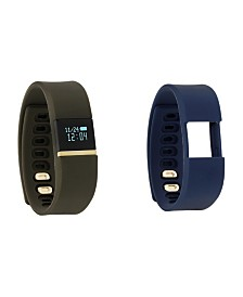 iFitness Activity Tracker with Olive Strap and Bonus Navy Strap