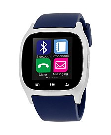 iTouch Smartwatch Silver Case with Navy Strap