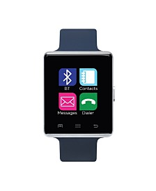 iTouch Air Smartwatch 45mm Silver Case with Navy Strap