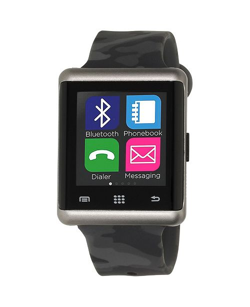 iTouch Air Smartwatch 45mm Silver Case with Camouflage Strap