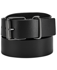Men's Roller-Buckle Leather Belt
