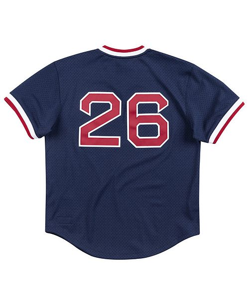 buy popular 6a708 40c07 Men's Wade Boggs Boston Red Sox Authentic Mesh Batting Practice V-Neck  Jersey