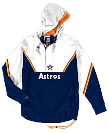Mitchell & Ness Men's Houston Astros Anorak Half-Zip Pullover