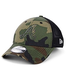 Atlanta Braves Camo Trucker 39THIRTY Cap