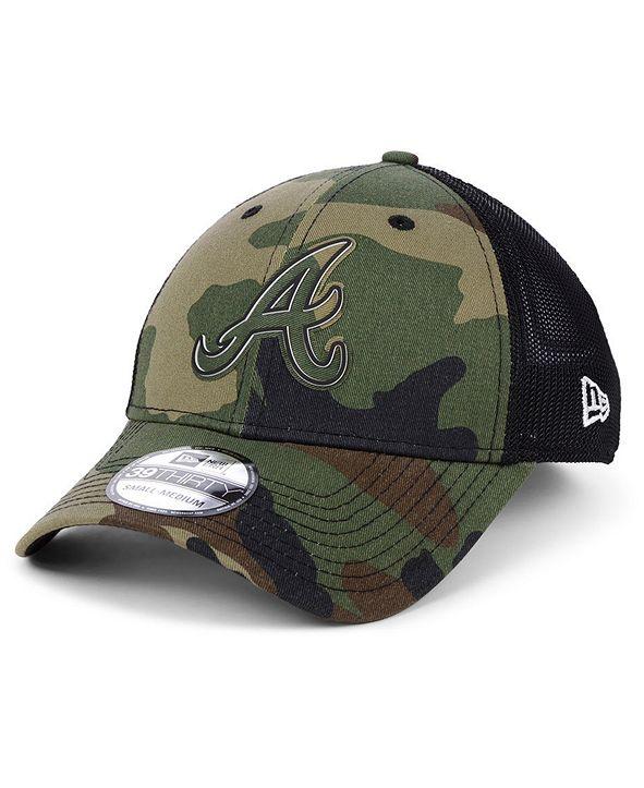 New Era Atlanta Braves Camo Trucker 39THIRTY Cap