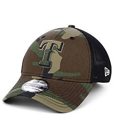 New Era Texas Rangers Camo Trucker 39THIRTY Cap