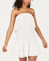 fc8ba0beeed9 City Studios Juniors' Strapless Lace Popover Dress