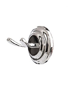 Arista Cascade Robe Hook Chrome Finish