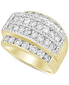 Men's Diamond Cluster Ring (3 ct. t.w.) in 10k Gold