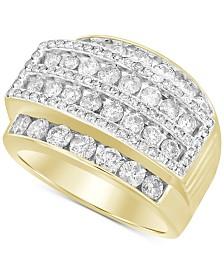 Men's Diamond Cluster Ring (3 ct. t.w.) in 10k Gold