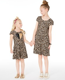 Epic Threads Toddler, Little & Big Girls Leopard-Print Criss-Cross Dress, Created for Macy's