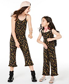 Toddler, Little & Big Girls Floral-Print Jumpsuit, Created for Macy's