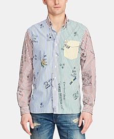 Men's Custom Fit Stripe Graphic Shirt