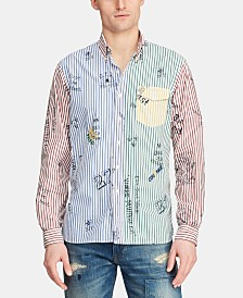 Polo Ralph Lauren Men's Custom Fit Stripe Graphic Shirt