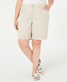 Karen Scott Plus Size Bermuda Shorts, Created For Macy's
