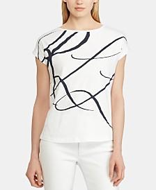 Lauren Ralph Lauren Logo-Print Short-Sleeve Top