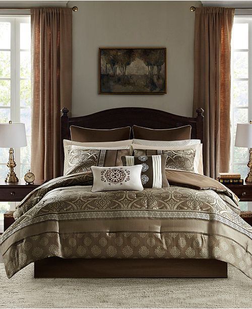 16 Piece Jacquard Complete Bedding