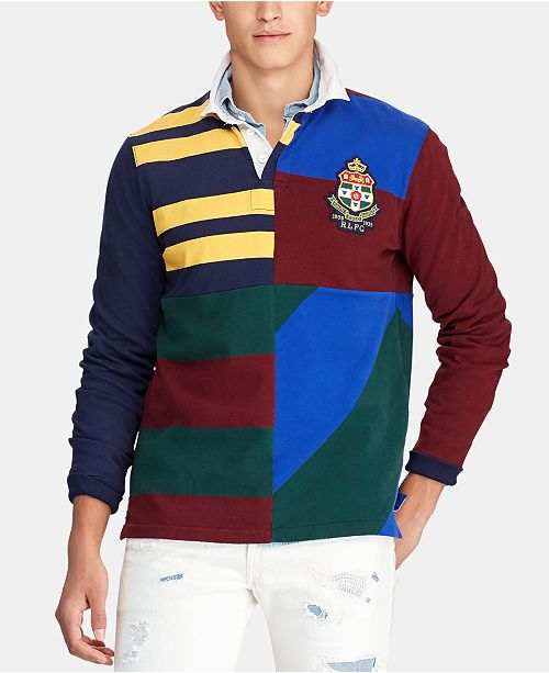 Polo Ralph Lauren Men's Rugby Patchwork Classic Fit Polo