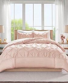 Madison Park Laurel King/California King 3 Piece Tufted Duvet Cover Set