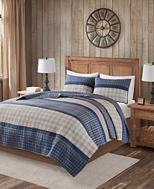 Woolrich Flagship 3-Pc. Reversible Cotton Oversized Quilt Mini Sets