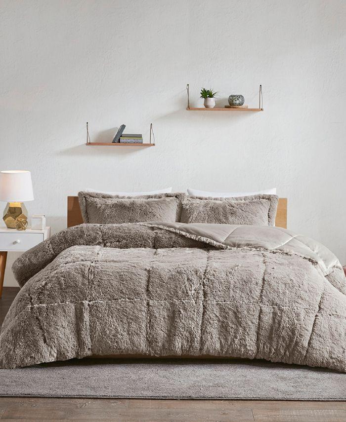 Intelligent Design - Malea 3-Pc. Shaggy Faux Fur Comforter Sets