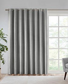 "SunSmart Maya 100"" x 84"" Printed Heathered Blackout Patio Panel"