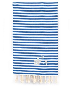 Fun in the Sun Glittery Starfish Pestemal Beach Towel