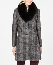 Fox-Fur-Collar Reefer Coat